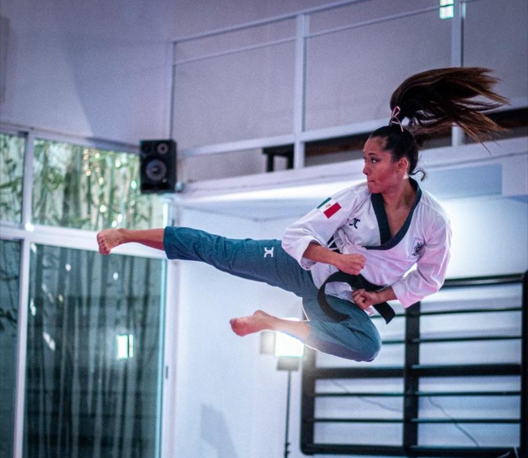 Ana Zulema Ibáñez Ramírez, seleccionada mexicana de taekwondo poomsae. Cortesía