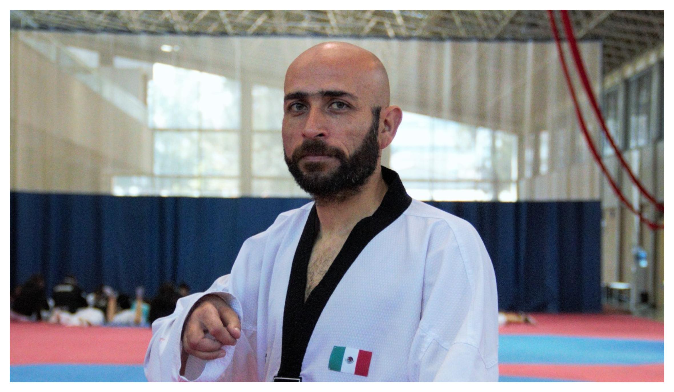 Francisco Pedroza, seleccionado mexicano de para taekwondo en el CNAR.