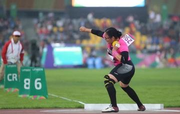 Rebeca Valenzuela, atleta sonorense de ciegos y débiles visuales.