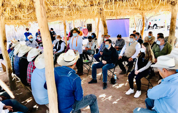 Gobernadores Yaquis y Comisión Presidencial reafirman compromiso para hacer realidad el Plan de Justicia del Pueblo Yaqui.