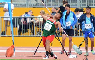Eliezer Gabriel Buenaventura, medallista de plata en el lanzamiento de jabalina de los Juegos Parapanamericanos Lima 2019.