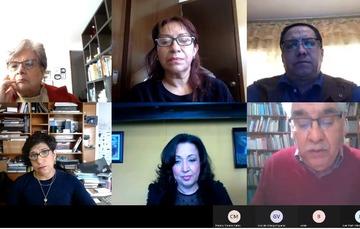 Captura de pantalla de videoconferencia.
