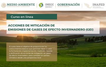 """Curso en línea """"Acciones de Mitigación de Emisiones de Gases de Efecto Invernadero""""."""