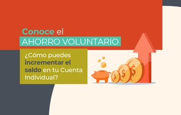 Blog: conoce el ahorro voluntario ¿cómo puedes incrementar el saldo en tu Cuenta Individual?