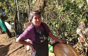 Acacia Bautista sembradora de San Miguel Achiutla, Oaxaca