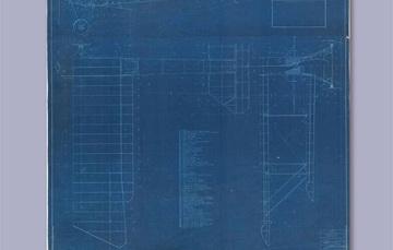 """Para rememorar un año más de la creación de la Fuerza Aérea Mexicana, la Mapoteca Manuel Orozco y Berra presenta esta imagen titulada: """"Plano de un avión biplano serie A""""."""