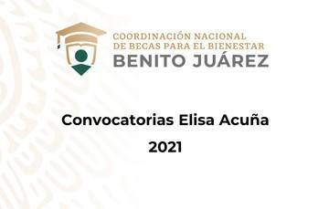 Convocatorias Elisa Acuña 2021