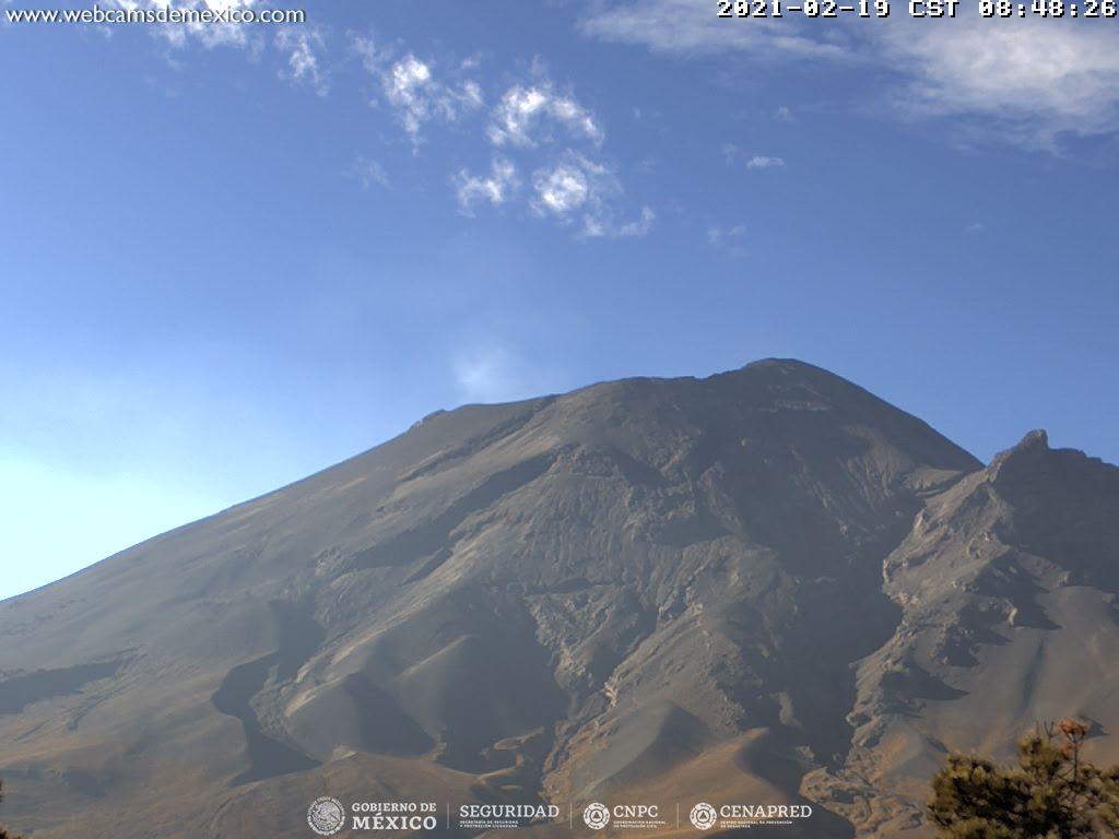 En las últimas 24 horas, mediante los sistemas de monitoreo del volcán Popocatépetl se identificaron 27 exhalaciones acompañadas por emisiones de vapor de agua, gases volcánicos y ligeras cantidades de ceniza.