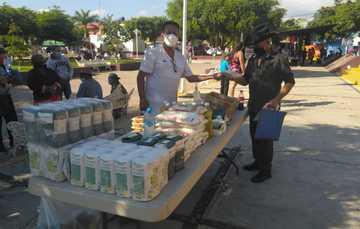 Llegan unidades móviles de Segalmex-Diconsa a Buenavista Tamatlán y Coalcomán, Michoacán.