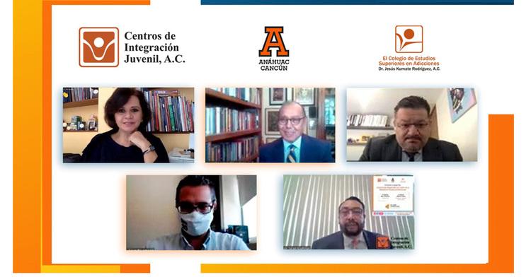 La Universidad Anáhuac Cancún y CIJ presentaron una conferencia magistral sobre la Maestría en Gestión de Adicciones