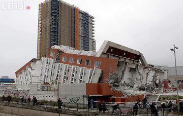 Colapso de edificación en la ciudad de Concepción. Fuente: emol.com