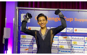 Patinador artístico Donovan Carrillo Suazo en Holanda. Cortesía