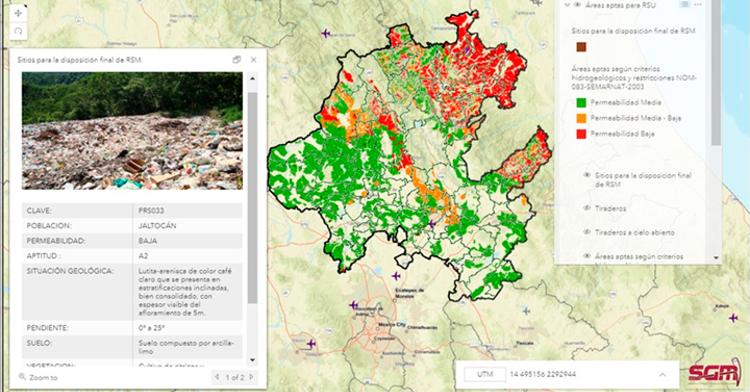 Localización de sitios para la disposición final de residuos sólidos urbanos de Hidalgo