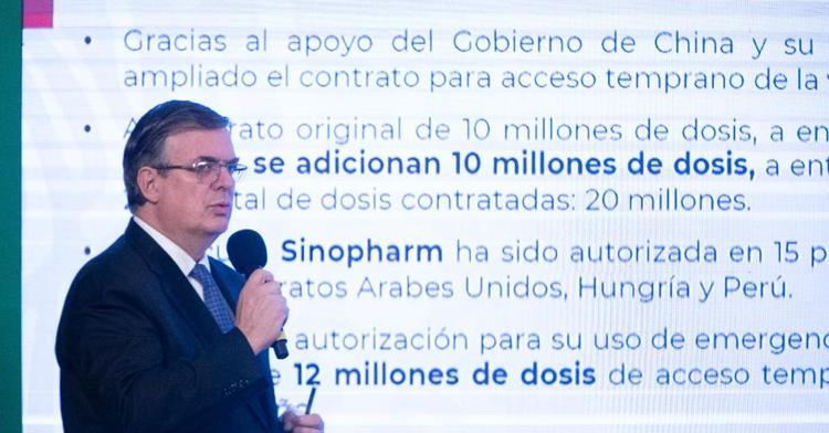México acelera Plan Nacional de Vacunación; amplía a 22 millones las dosis Sinovac y Sinopharm contra COVID-19