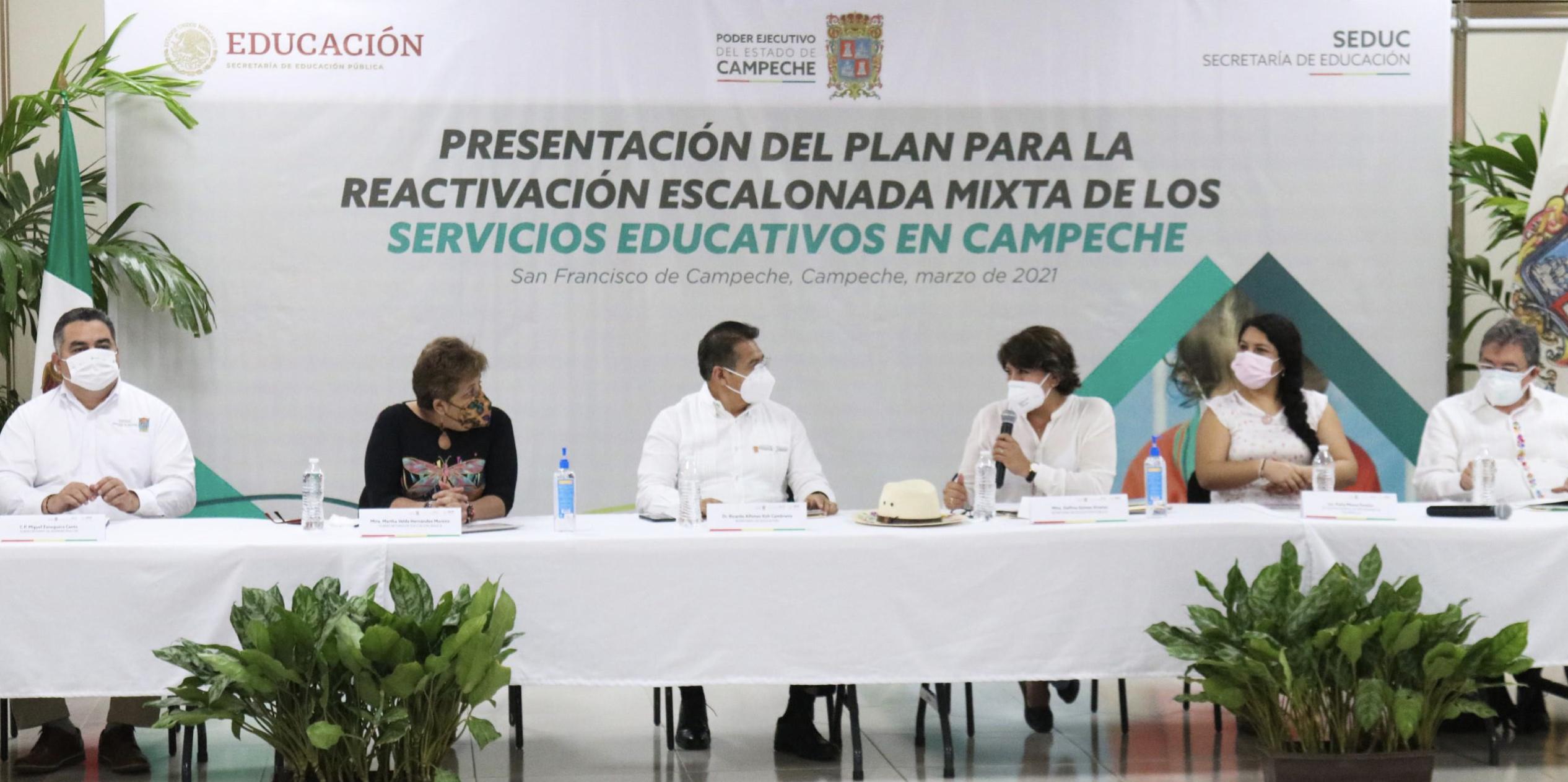 Boletín No. 60  Avanzan Educación y Gobierno de Campeche en el plan para la reactivación de los servicios educativos en la entidad