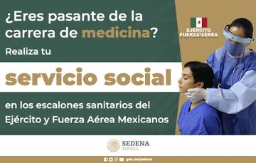 "Convocatoria de Servicio Social de Medicina ""Promoción agosto 2021""."