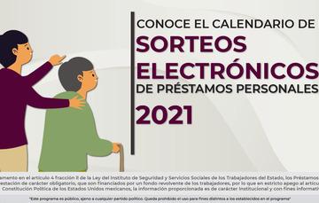 Calendario de Sorteos Electrónicos de Préstamos Personales 2021