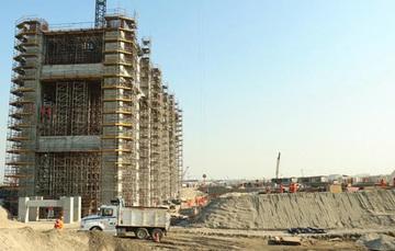 Fotografía de la construcción