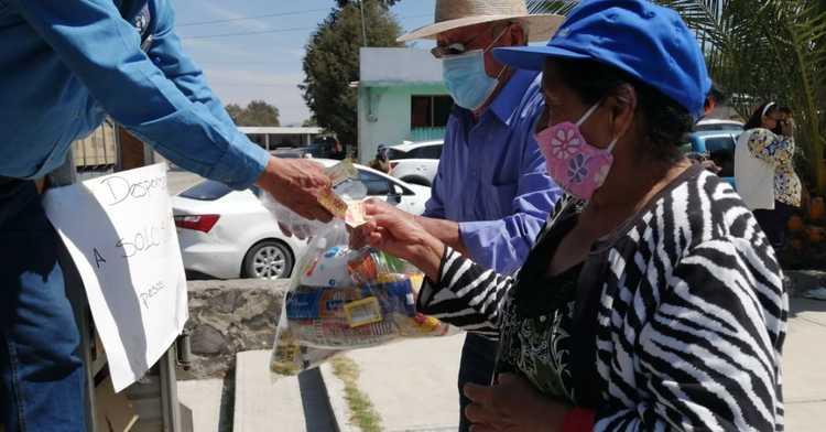 Visitan tiendas móviles Diconsa comunidades vulnerables de Tlaxcala para venta de canasta básica