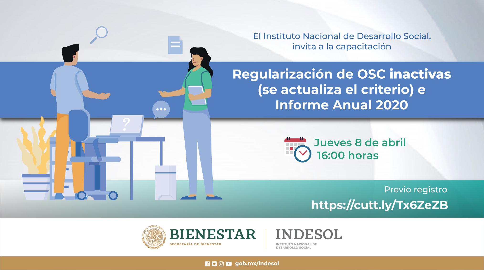 Capacitación: Regularización de OSC inactivas e Informe Anual 2020