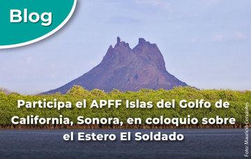 Participa el APFF Islas del Golfo de California, Sonora, en coloquio sobre el Estero El Soldado.