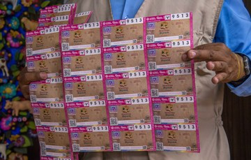 Fotografía de la serie de cachitos del sorteo alusivo a nuestra riqueza el cacahuate