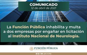 La Función Pública inhabilita y multa a dos empresas por engañar en licitación al Instituto Nacional de Neurología