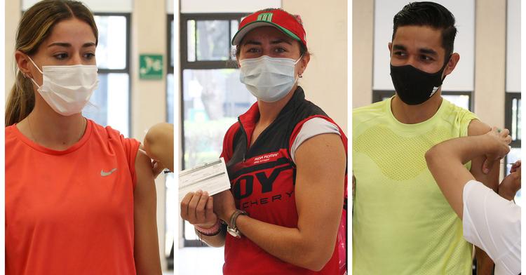 CONADE, en coordinación con la Secretaría de Salud (SSA), aplicó este martes la primera dosis de la vacuna contra el virus SARS-CoV-2 (covid-19), a un tercer grupo de atletas en el CNAR. Especial