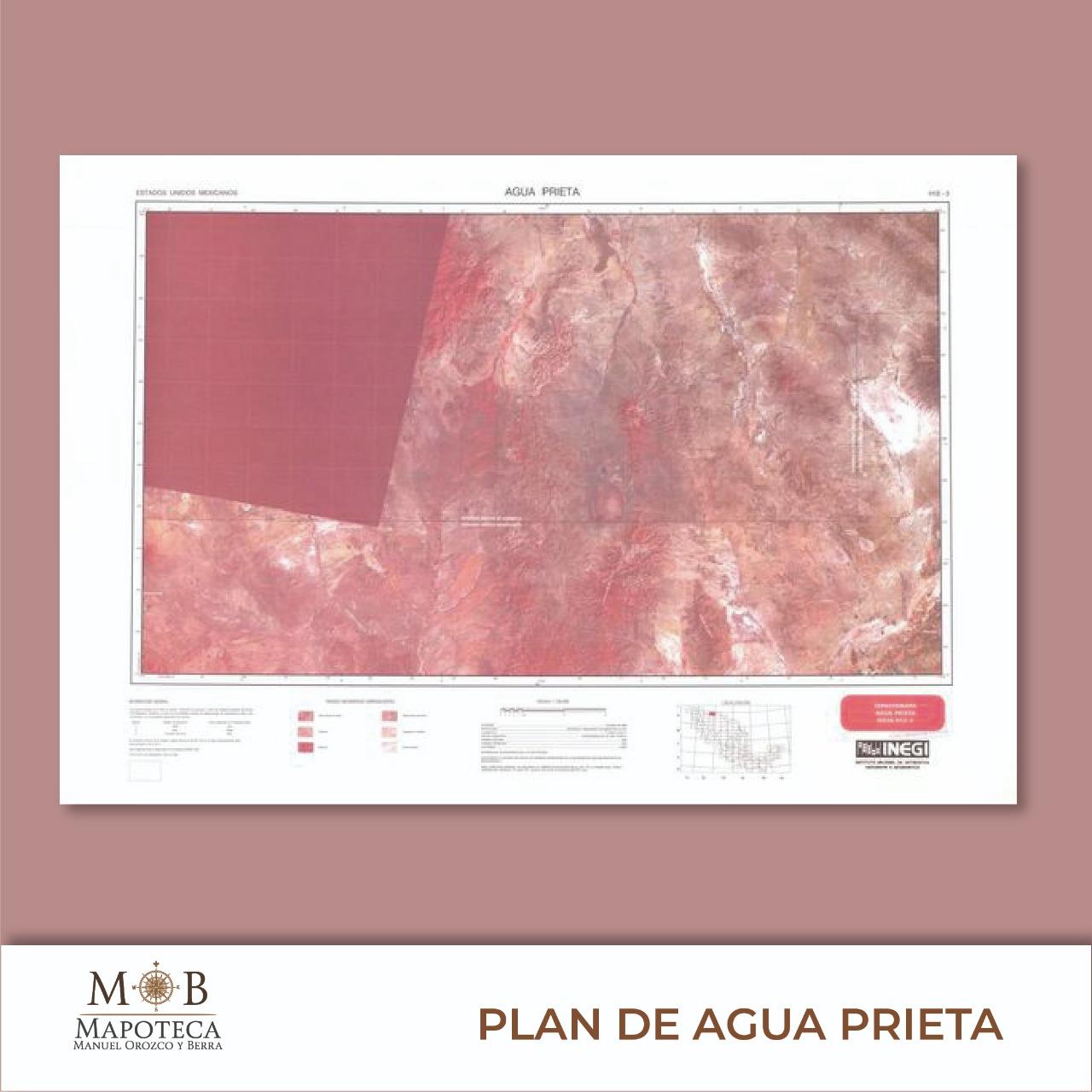 """Para recordar un año más de la proclamación del Plan de Agua Prieta, la Mapoteca Manuel Orozco y Berra presenta esta imagen titulada: """"Espaciomapa de Agua Prieta""""."""
