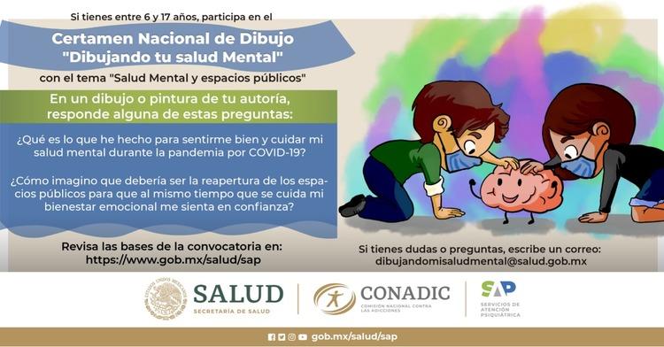 "1er Concurso Nacional de Dibujo ""Dibujando tu Salud Mental"""