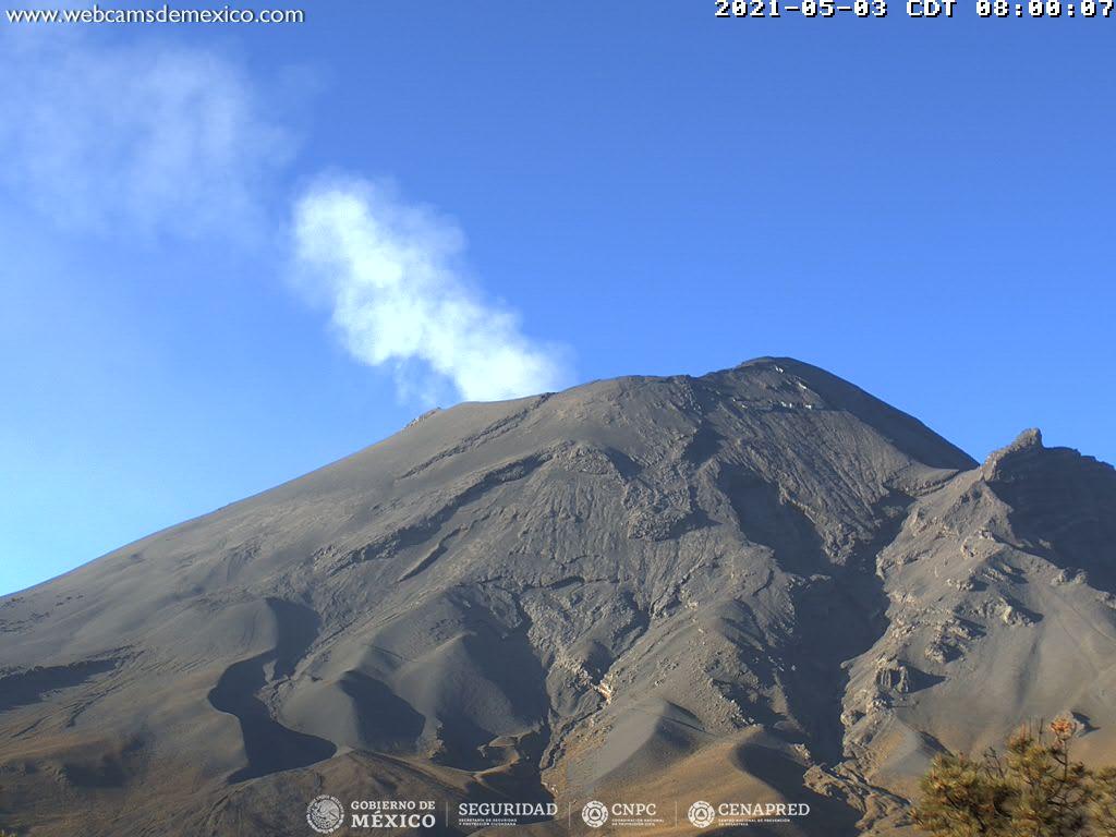 En las últimas 24 horas, mediante los sistemas de monitoreo del volcán Popocatépetl se identificaron 58 exhalaciones y 220 minutos de tremor.