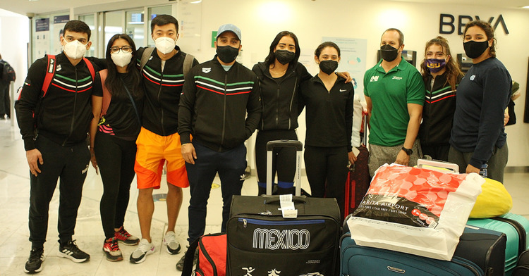 Equipo nacional de clavados que compitió en la Copa del Mundo Tokio 2021. CONADE