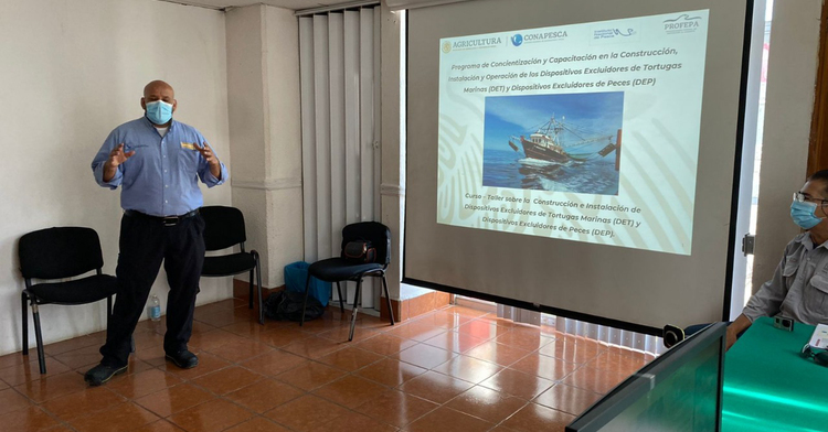 Cierra en Campeche primera etapa del curso-taller de concientización y capacitación sobre Dispositivos Excluidores de Tortugas