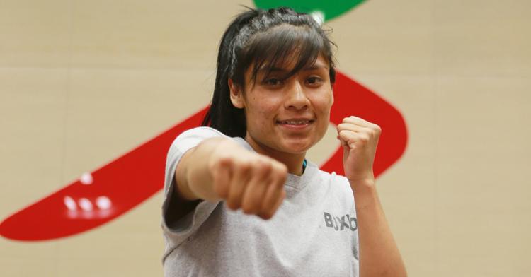 Esmeralda Falcón Reyes, boxeadora mexicana. CONADE