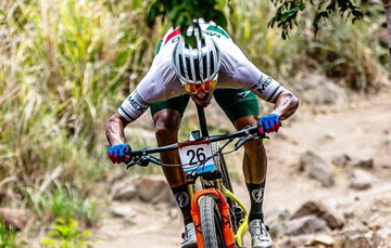 Gerardo Ulloa, ciclista mexicano de montaña. Cortesía