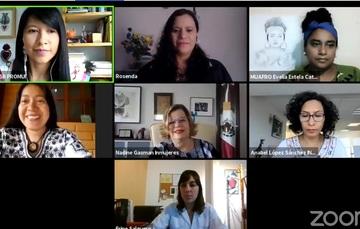 participantes en conversatorio virtual por zoom