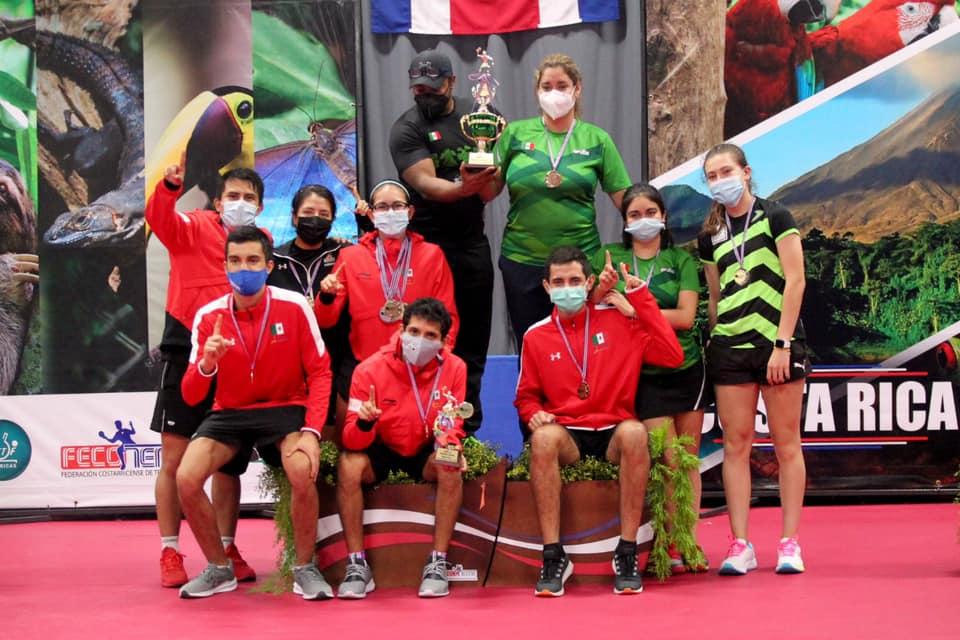 Delegación mexicana de tenis de mesa tras su destacada participación en el Centroamericano en Costa Rica. Cortesía