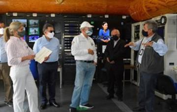 Visita del Secretario Ing. Jorge Arganis Díaz-Leal a TELECOMM