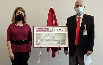 CONAMED celebra un cuarto de siglo con billete de lotería