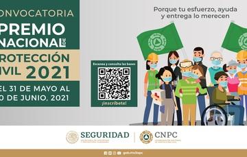 Convocatoria al Premio Nacional de Protección Civil 2021