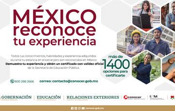 México reconoce tu experiencia