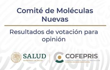 Resultados del Comité de Moléculas Nuevas