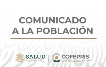 Comunicado a la población