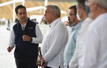 El Director General de Banobras, Jorge Mendoza Sánchez, presentó el estado actual de la construcción de la autopista Barranca Larga-Ventanilla.