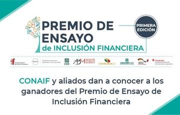 Ganadores de la primera edición del Premio de Ensayo de Inclusión Financiera