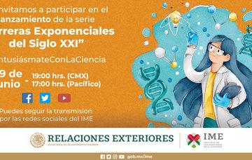 """Te invitamos a participar en la Sesión Inaugural de la serie """"Carreras Exponenciales del Siglo XXI"""" #EntusiásmateConLaCiencia"""