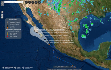 Trayectoria tormenta tropical Enrique