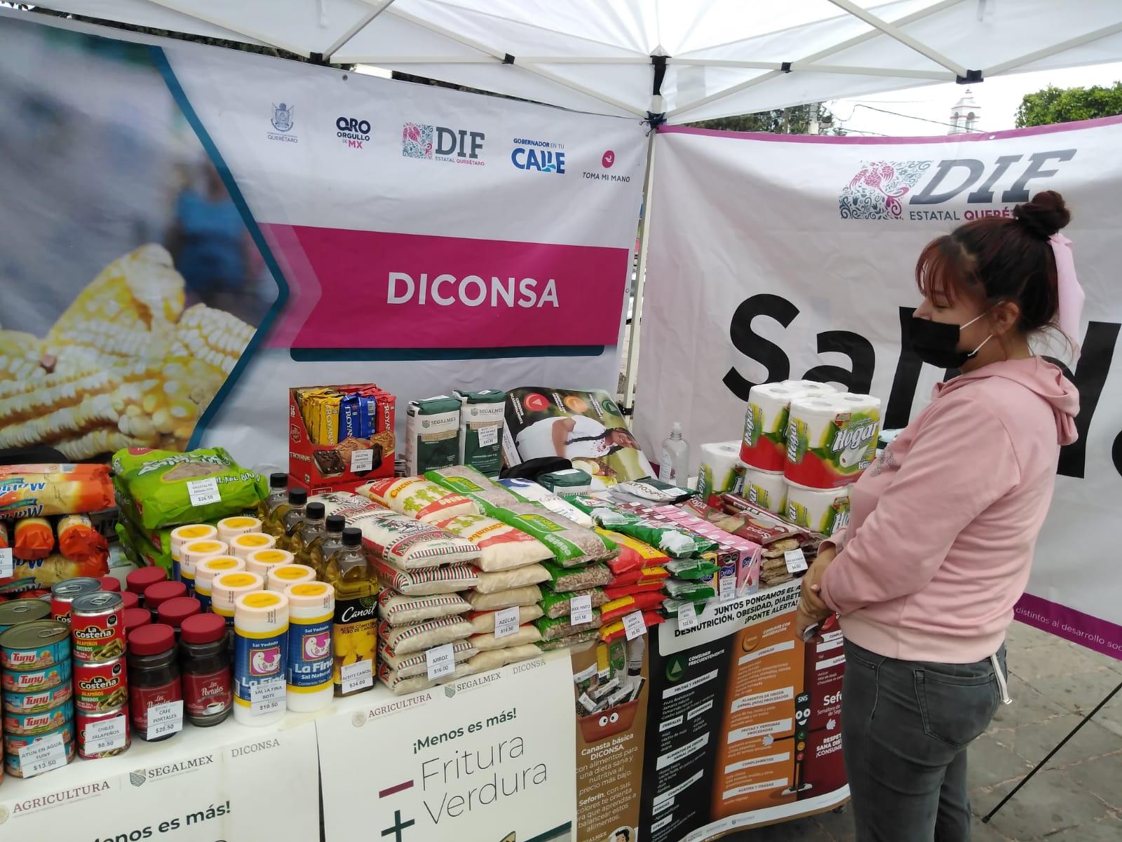"""Promocionará Diconsa Querétaro canasta básica en """"Jornadas de Salud y Servicios"""""""