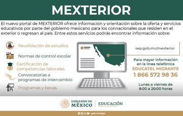 Nueva plataforma MEXTERIOR SEP