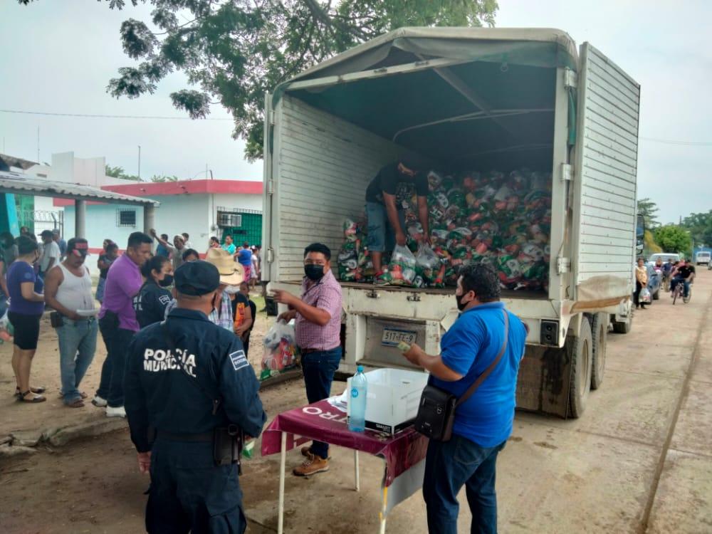 Oferta Diconsa canasta básica a familias necesitadas de Tamaulipas